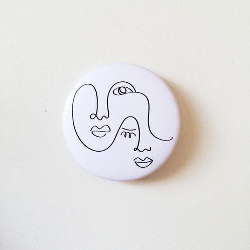"""Badge A deux collection """"LIGNE"""""""