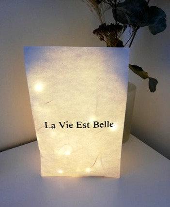 """Sac lumineux La Vie est Belle """"Les Joyeuses Lumières"""""""