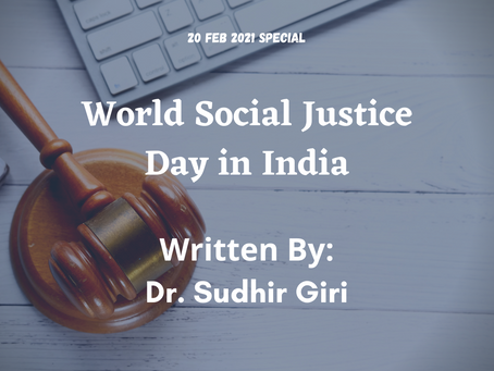 World Social Justice Day in India