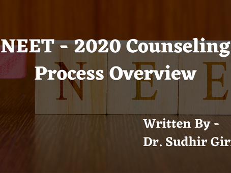 NEET - 2020 Counseling Process Overview