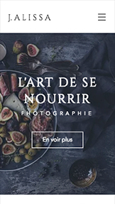 Photographie website templates – Photographe Culinaire