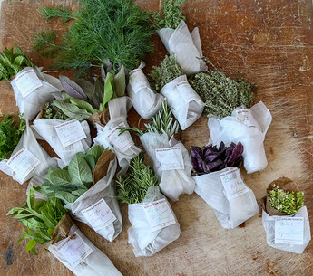 Herbs packaged for delivery