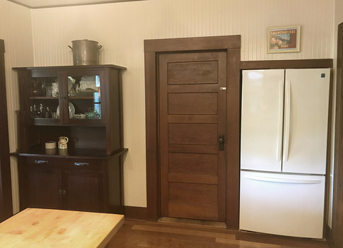 Door opens to a large pantry