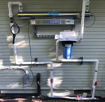 Infrared water filter system