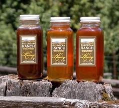Dark, medium and light honey