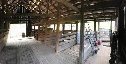 Interior of sheep barn