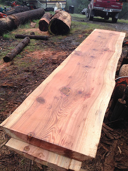 "27"" wide redwood slabs"