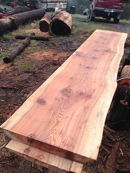 """27"""" wide redwood slabs"""