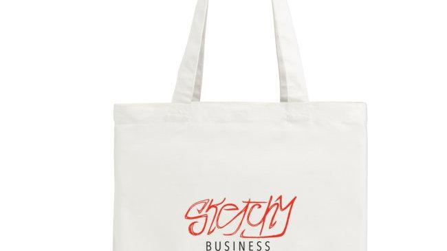 Sketchy Business Tote Bag