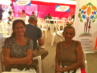 Displaced Colombians attend information fair in Cienega
