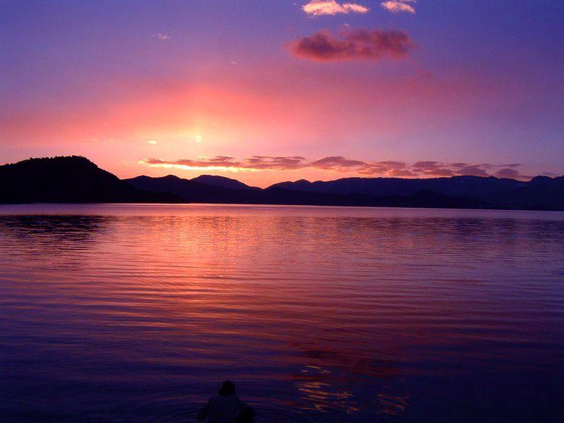 Lugu Lake sunrise