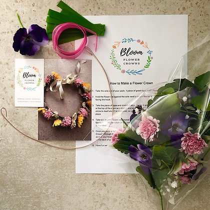 Kids DIY Flower Crown Kit