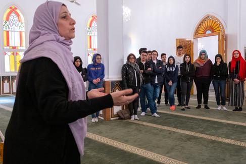 Auch der gemeinsame Besuch einer Moschee ist fester Bestandteil des Alwan-Programms.