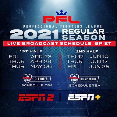 【PFL】2021年放送スケジュール確定! ジョニー・ケースようやく始動