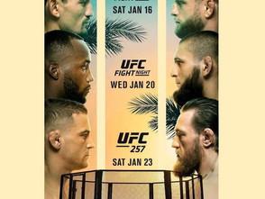 【UFC】2021年のスタートはファイトアイランドでのトリプルヘッダー