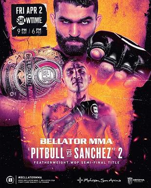 【Bellator】Bellator 255: ピットブル vs. サンチェス2開催=4月2日