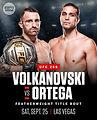 【UFC】フェザー級タイトルマッチ、王者アレクサンダー・ヴォルカノフスキーとブライアン・オルテガが対戦~9/25 UFC266