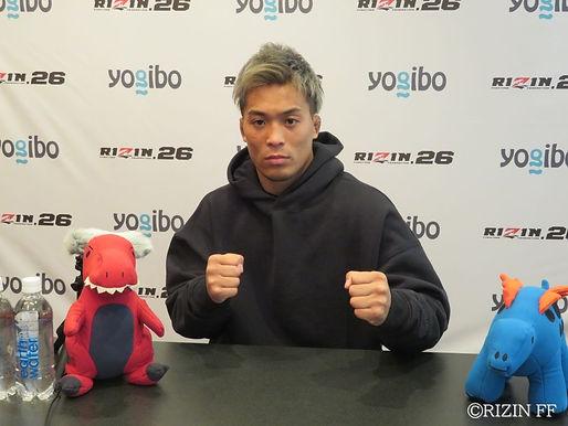【RIZIN】太田忍試合前インタビュー「イメージどおり遂行できたら負ける確率はほぼないかなと思っています」
