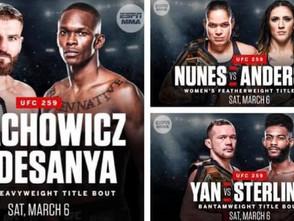 【UFC】UFC 259はトリプルタイトルマッチ