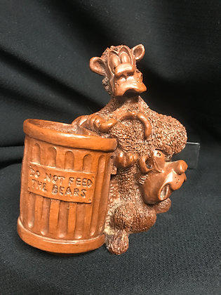 E. Biersdorfer Red Mill - Do Not Feed The Bears Pecan Resin Cabin Decor
