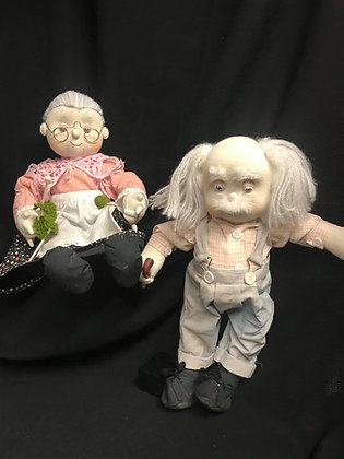 Grandma and Grandpa Doll with Moveable Limbs-FREE SHIPPING!