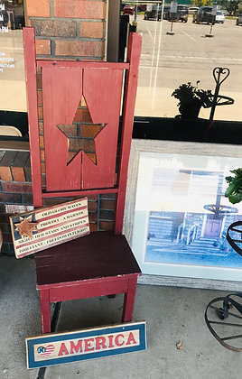 Americana-Themed Decorative Chair/Plant Stand