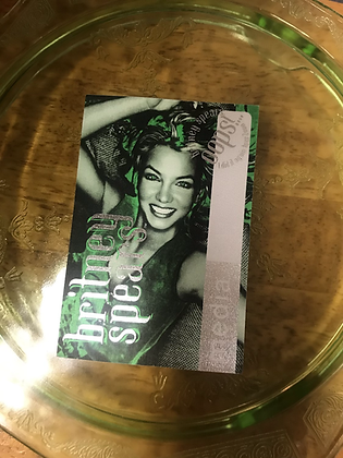 Britney Spears Backstage Media Pass Oops I Did It Again Tour 2000