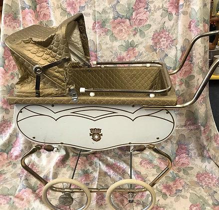 Vintage Welsh doll pram buggy stroller, newborn baby photography prop