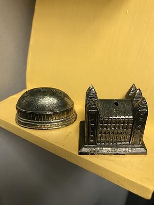 Pair of Vintage Salt Lake City Mormon Temple Tabernacle Salt & Pepper Shakers