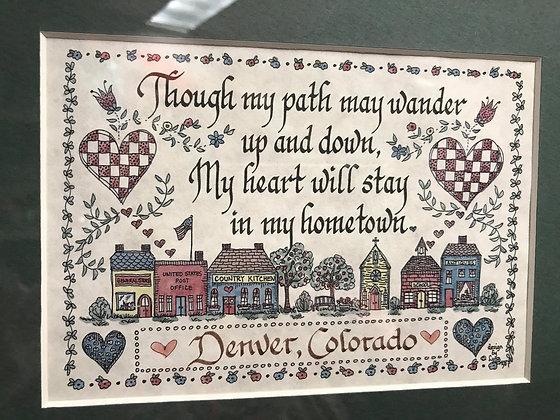 Denver Colorado Graduation Gift, Mile High City, Personalized Travel Decor Wall