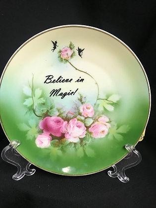 Fairy Plate, Fairy Decor, Upcycled Vintage Plate, Bavaria Germany Plate