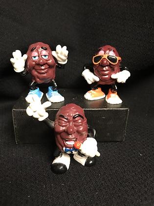 Vintage 80's California Raisins Band Figurines FREE SHIPPING