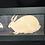Thumbnail: Warren Kimble Primitive Two Bunnies Rabbit Folk Art Americana Framed Cottage VTG