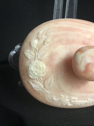 """Vintage 1970's Incolay Stone """"My Favorite Soap"""" Music Box"""