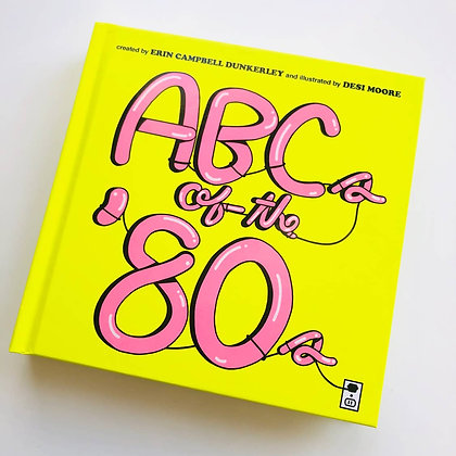 ABC's of the 80's Nostalgia Picture Book-FREE SHIPPING!