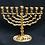 "Thumbnail: Vintage Judaica Small Brass Hanukkah Menorah ""Jerusalem"" by ""Tamar"""