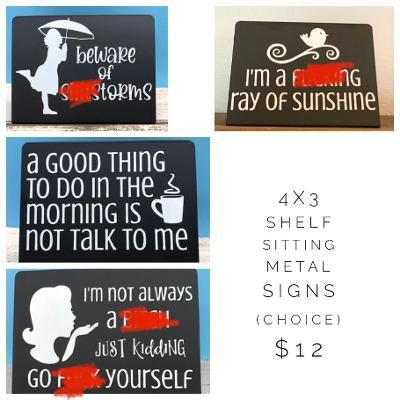Mini Snarky Sign-Choice Design-Black