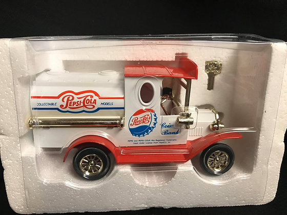 Pepsi Cola Truck Diecast Coin Bank