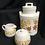 Thumbnail: McCoy Pottery Cream, Sugar, Coffee Storage 1970's Gingham Flowers