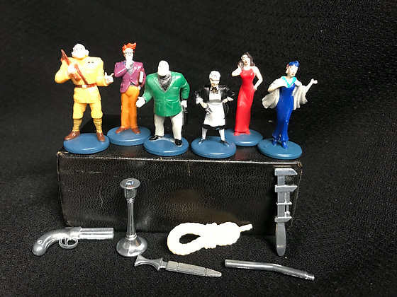 Clue Board Game Pieces and Weapons