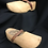 Thumbnail: Carved Wooden Elf Gnome Fairy Pixie Shoes-Life Size Decor