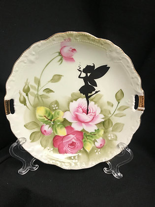 Fairy Plate, Fairy Decor, Upcycled Vintage Plate, Lefton Japan Plate