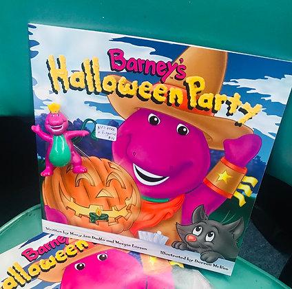 Barney's Halloween Party Book & Figurine