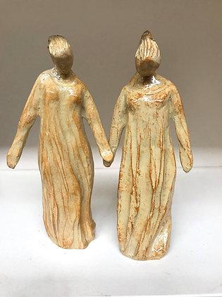 Women of the Way Christian Figurine Pair