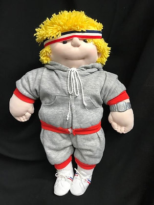 "Handmade 18"" Boy Sportster Cabbage Patch Doll"