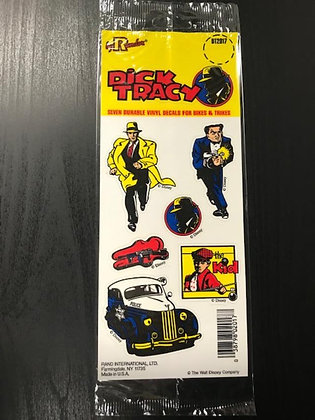 Vtg Dick Tracy Vinyl Decal Stickers-Disney-FREE SHIPPING!
