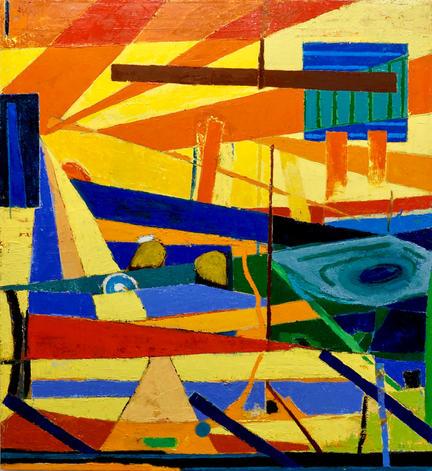 "Venue    48 x 44 x 1.25""      oil on canvas      2020"