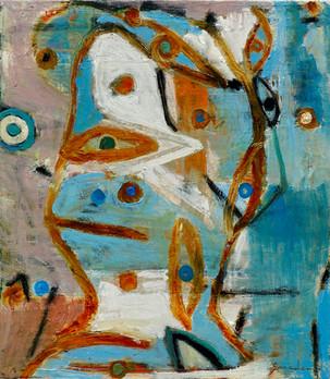 """Blue Boy       16 x 14 x 1.25""""       oil on canvas    2018"""
