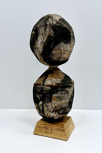 """Head and Shoulders 22 x 10 x 10""""  wood, paint 1995 - 2021"""