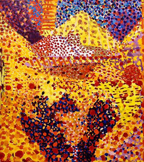 Yellow Peak     56 x 50 x 1.25_       oil on canvas      2021